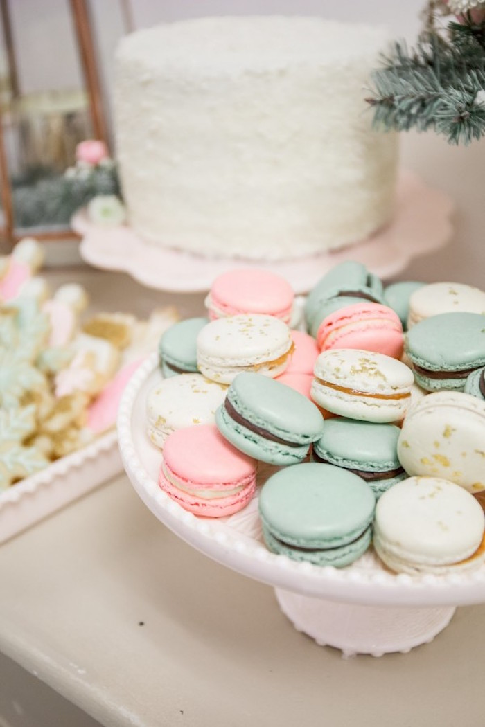 Macarons from a Winter Wonderland Birthday Party via Kara's Party Ideas KarasPartyIdeas.com (33)