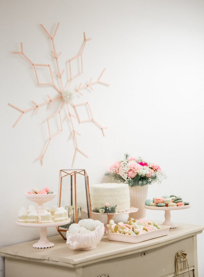 Sweet Table from a Winter Wonderland Birthday Party via Kara's Party Ideas KarasPartyIdeas.com (31)