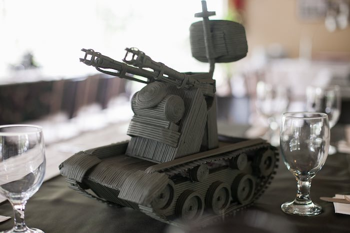 Tank Table Centerpiece from an Army Themed Birthday Party via Kara's Party Ideas | KarasPartyIdeas.com (19)