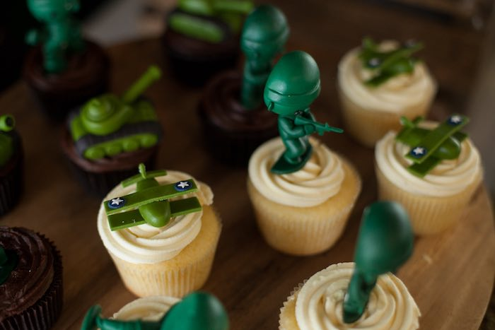 Cupcakes from an Army Themed Birthday Party via Kara's Party Ideas | KarasPartyIdeas.com (16)