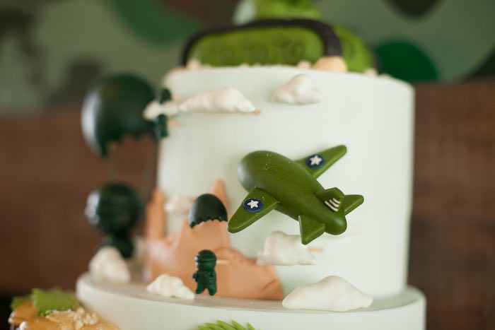 Cake Detail from an Army Themed Birthday Party via Kara's Party Ideas | KarasPartyIdeas.com (11)