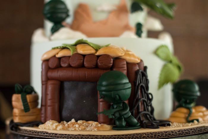 Cake Detail from an Army Themed Birthday Party via Kara's Party Ideas | KarasPartyIdeas.com (10)