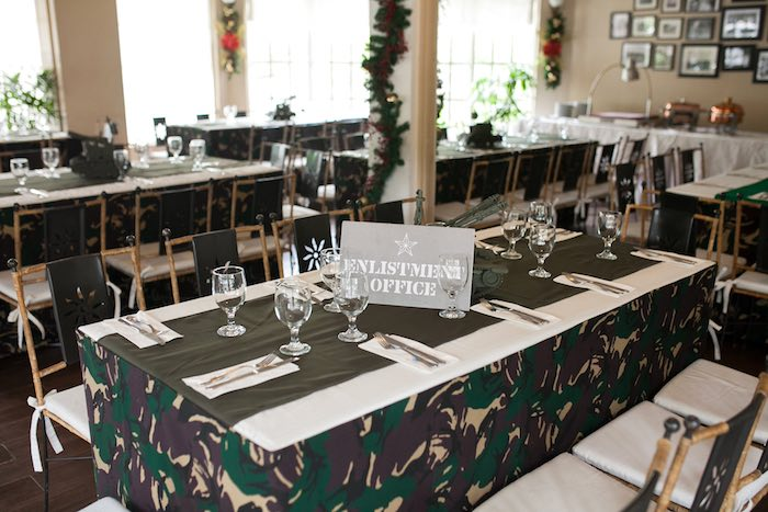 Guest Tables from an Army Themed Birthday Party via Kara's Party Ideas | KarasPartyIdeas.com (28)