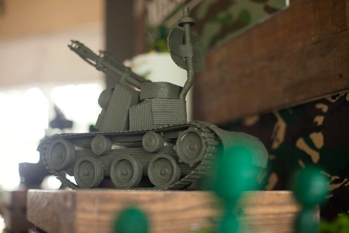 Tank from an Army Themed Birthday Party via Kara's Party Ideas | KarasPartyIdeas.com (6)