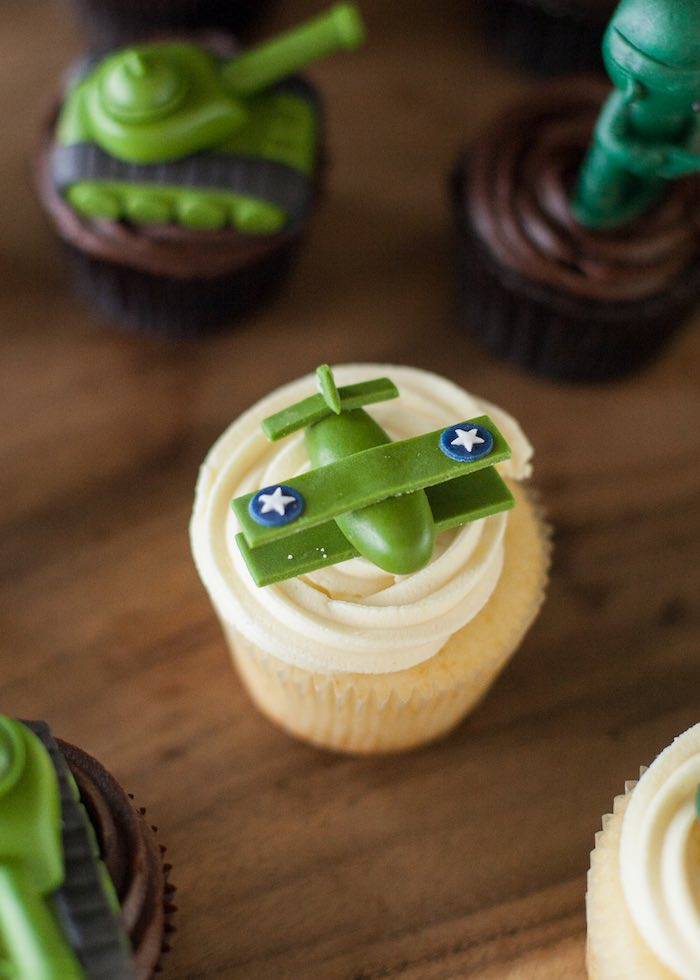 Cupcake from an Army Themed Birthday Party via Kara's Party Ideas | KarasPartyIdeas.com (4)