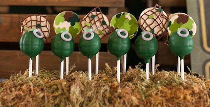 Cake Pops from an Army Themed Birthday Party via Kara's Party Ideas | KarasPartyIdeas.com (3)
