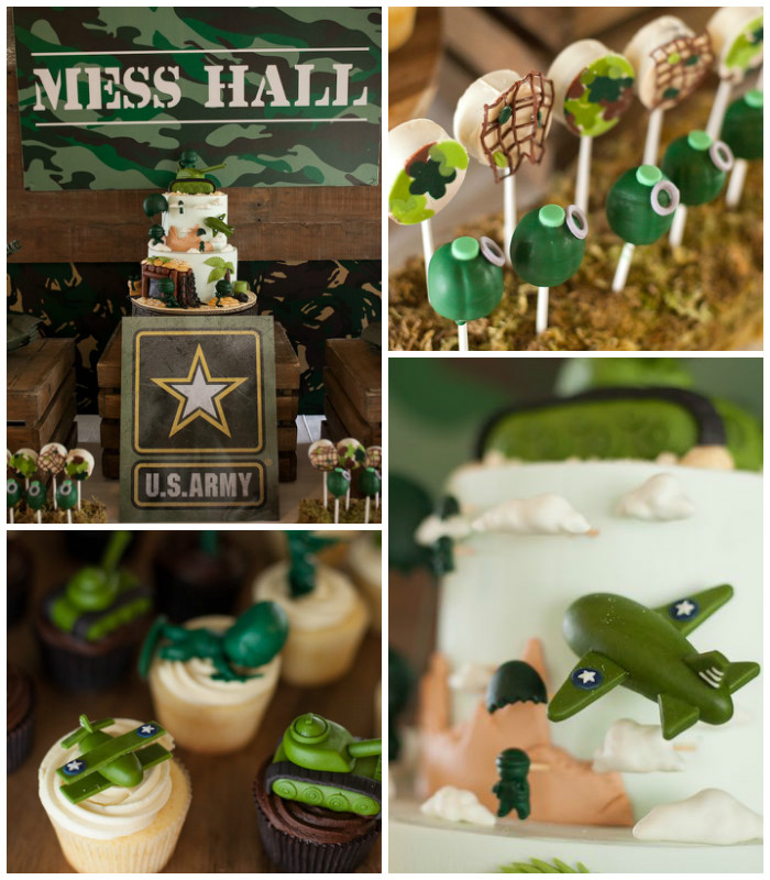 Army Themed Birthday Party via Kara's Party Ideas | KarasPartyIdeas.com (1)