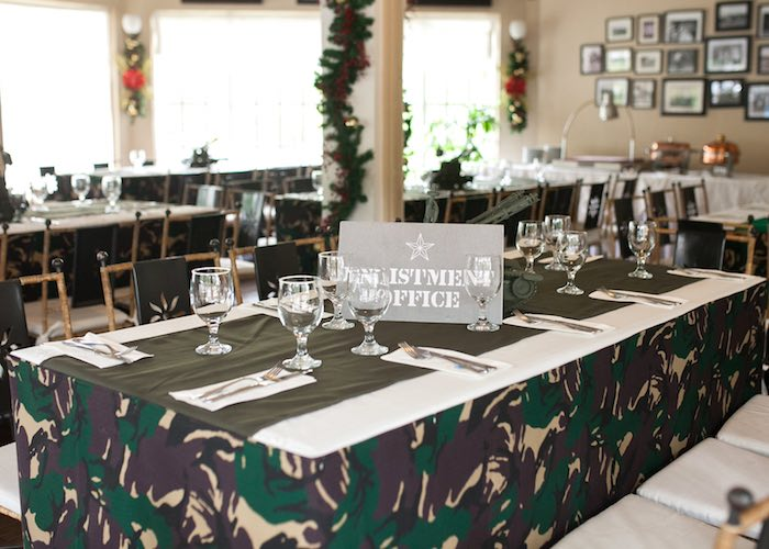 Guest Table from an Army Themed Birthday Party via Kara's Party Ideas | KarasPartyIdeas.com (27)