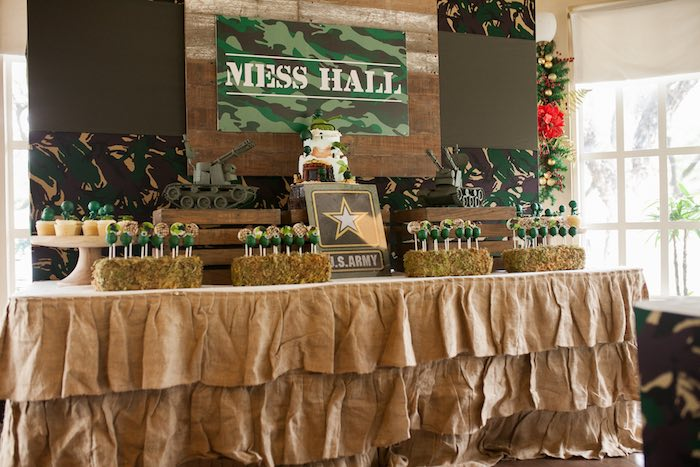 Head Table from an Army Themed Birthday Party via Kara's Party Ideas | KarasPartyIdeas.com (23)