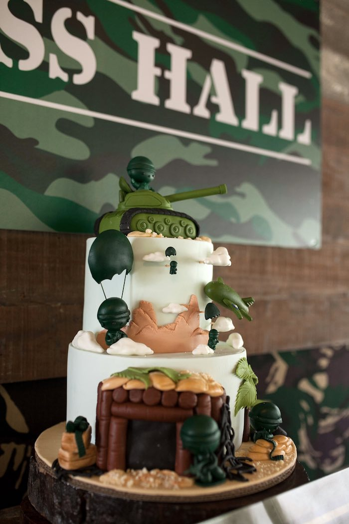 Birthday cakes army theme image inspiration of cake and for Army party decoration ideas