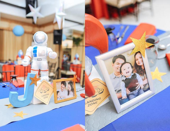 Decor + Centerpieces from an Astronaut + Rocket Ship Birthday Party via Kara's Party Ideas KarasPartyIdeas.com (10)