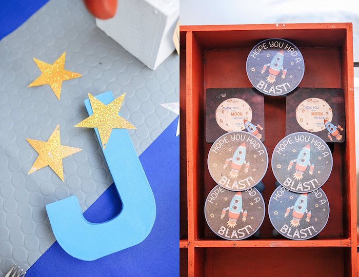 Decor + Stationery from an Astronaut + Rocket Ship Birthday Party via Kara's Party Ideas KarasPartyIdeas.com (8)