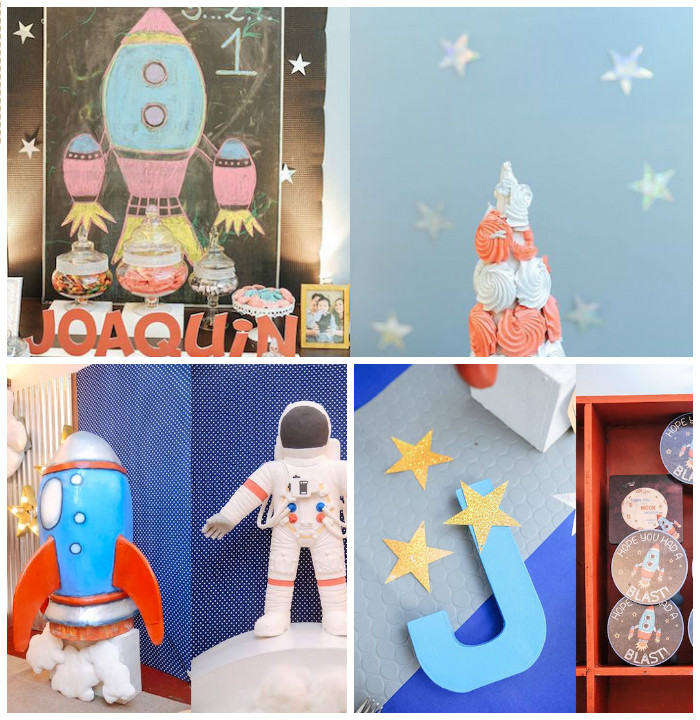 Astronaut + Rocket Ship Birthday Party via Kara's Party Ideas KarasPartyIdeas.com (2)