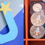 Decor + Stationery from an Astronaut + Rocket Ship Birthday Party via Kara's Party Ideas KarasPartyIdeas.com (1)