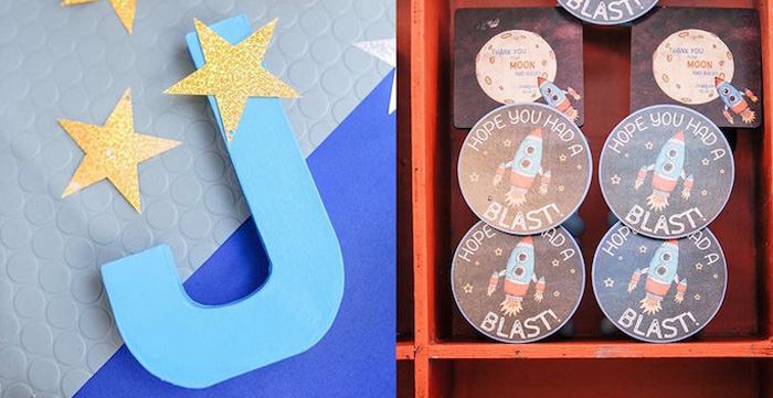 Decor + Stationery from an Astronaut + Rocket Ship Birthday Party via Kara's Party Ideas KarasPartyIdeas.com (1)