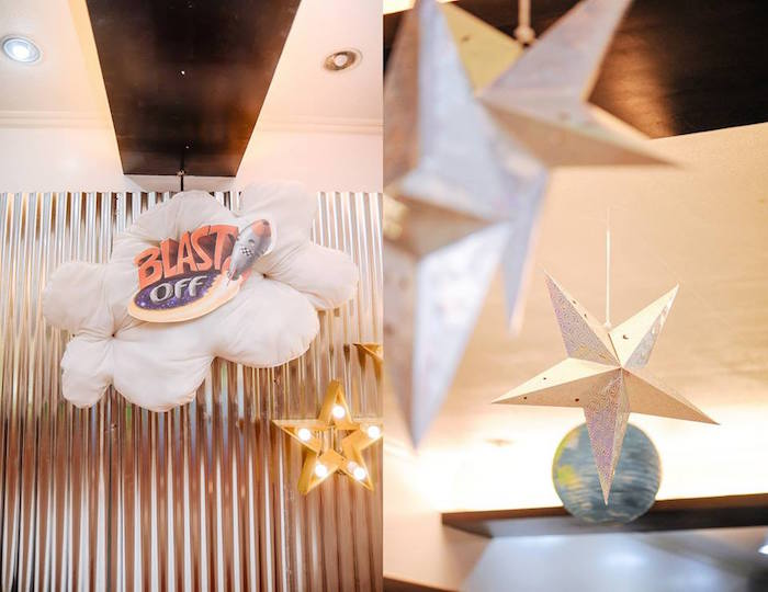 Decor from an Astronaut + Rocket Ship Birthday Party via Kara's Party Ideas KarasPartyIdeas.com (19)
