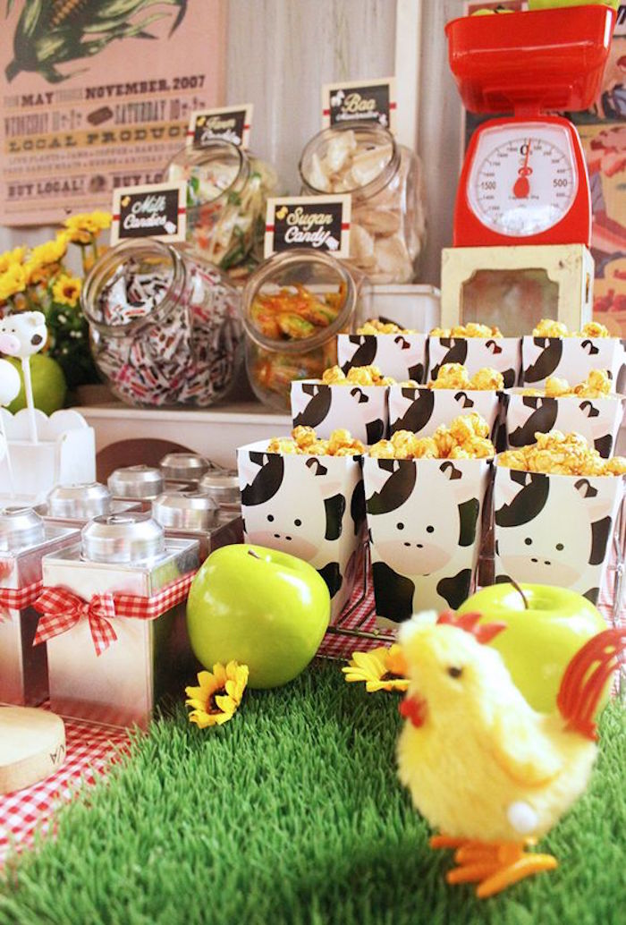 Sweets Snacks Favors From A Barnyard Birthday Party Via Karas Ideas KarasPartyIdeas