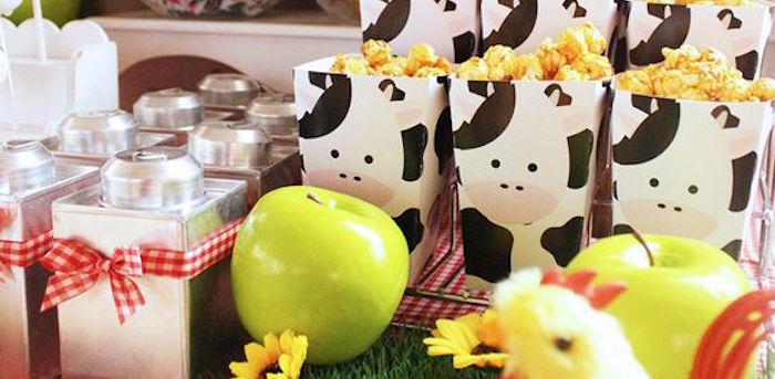 Snacks + Favors from a Barnyard Birthday Party via Kara's Party Ideas KarasPartyIdeas.com (1)