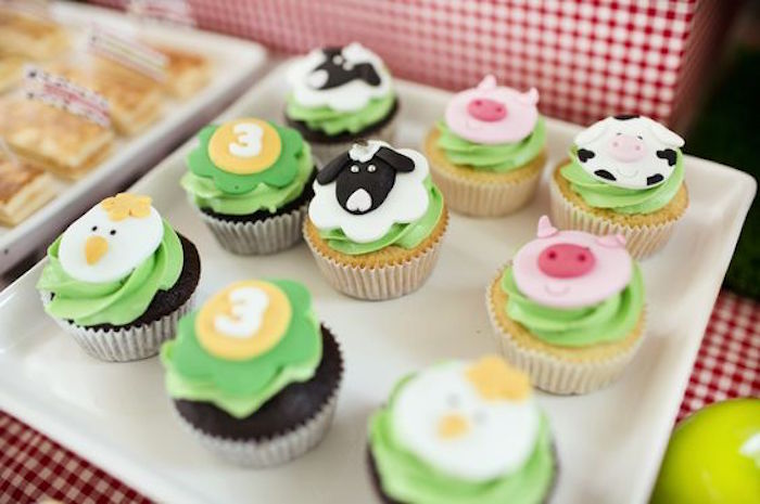 Cupcakes from a Barnyard Birthday Party via Kara's Party Ideas KarasPartyIdeas.com (18)