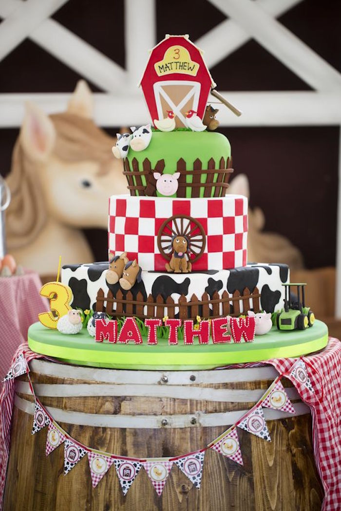 Karas Party Ideas 3rd Birthday Barnyard Party Karas Party Ideas