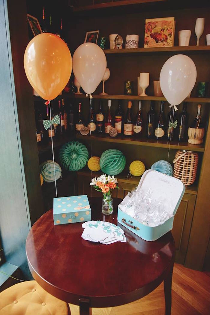 Table from a Bow Tie Birthday Party via Kara's Party Ideas | KarasPartyIdeas.com (12)