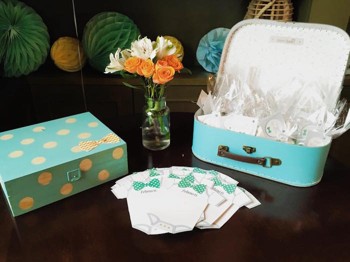 Table from a Bow Tie Birthday Party via Kara's Party Ideas | KarasPartyIdeas.com (4)