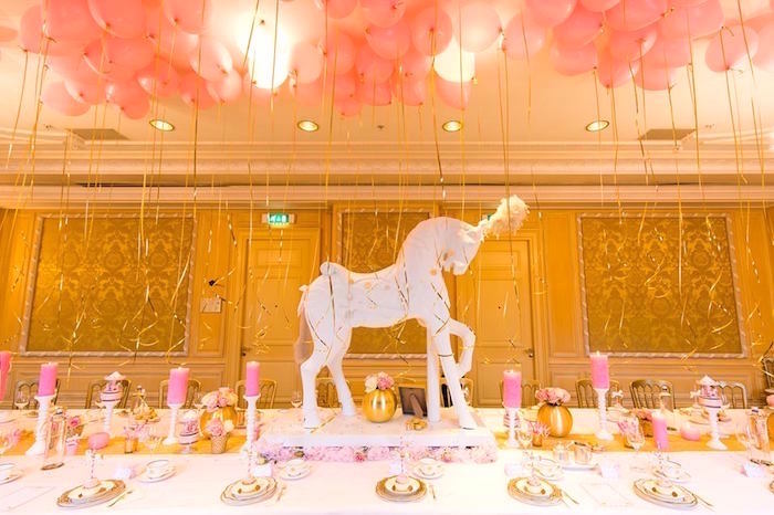 Dining Table from a Carousel Baby Shower via Kara's Party Ideas | KarasPartyIdeas.com The Place for All Things Party! (14)