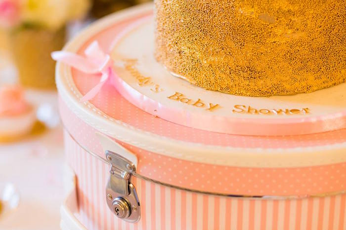 Hat Box used for a Cake Stand at a Carousel Baby Shower via Kara's Party Ideas | KarasPartyIdeas.com The Place for All Things Party! (13)