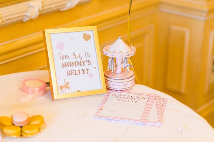 Guessing Game + Decor from a Carousel Baby Shower via Kara's Party Ideas | KarasPartyIdeas.com The Place for All Things Party! (10)