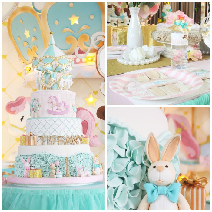 Carousel Birthday Party via Kara's Party Ideas | KarasPartyIdeas.com (2)