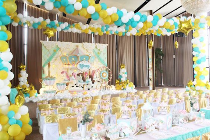 Partyscape from a Carousel Birthday Party via Kara's Party Ideas | KarasPartyIdeas.com (18)