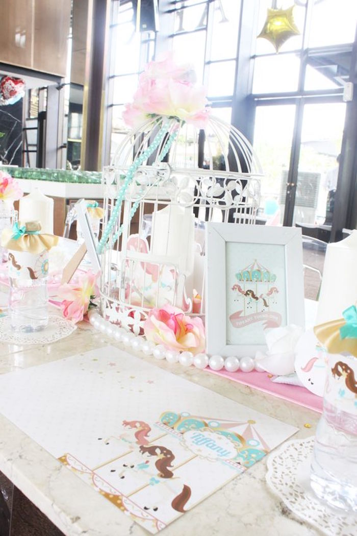 Centerpieces from a Carousel Birthday Party via Kara's Party Ideas | KarasPartyIdeas.com (17)