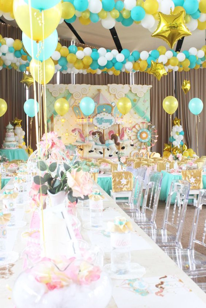 Partyscape from a Carousel Birthday Party via Kara's Party Ideas | KarasPartyIdeas.com (12)
