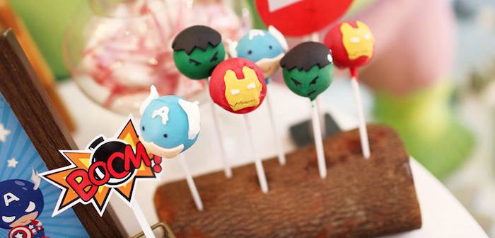 Cake Pops from a Cars + Avengers Joint Birthday Party via Kara's Party Ideas | KarasPartyIdeas.com (3)