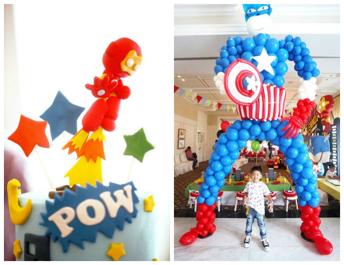 Karas Party Ideas Cars and Avengers Joint Birthday Party Karas
