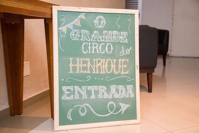 Chalkboard Sign from a Circus Carnival Baby Shower via Kara's Party Ideas KarasPartyIdeas.com (31)