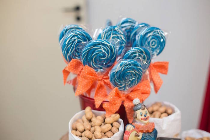 Lollipops from a Circus Carnival Baby Shower via Kara's Party Ideas KarasPartyIdeas.com (27)