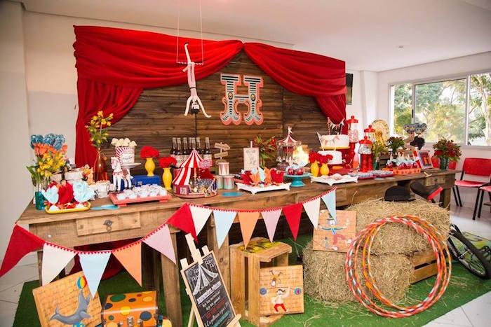 Head Table from a Circus Carnival Baby Shower via Kara's Party Ideas KarasPartyIdeas.com (16)