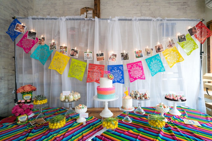 Karas Party Ideas Colorful First Birthday Fiesta