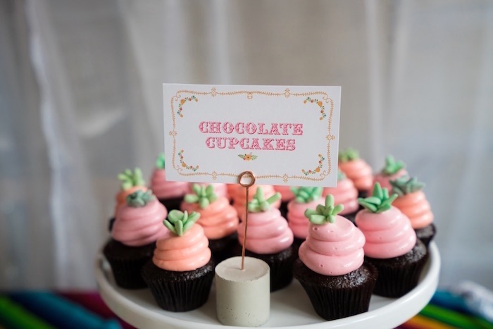 Cupcakes from a Colorful First Birthday Fiesta via Kara's Party Ideas KarasPartyIdeas.com (11)