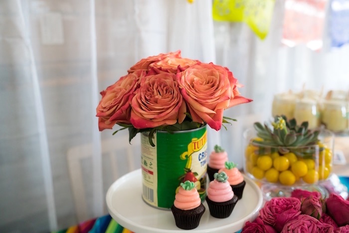 Decor + Cupcakes from a Colorful First Birthday Fiesta via Kara's Party Ideas KarasPartyIdeas.com (8)