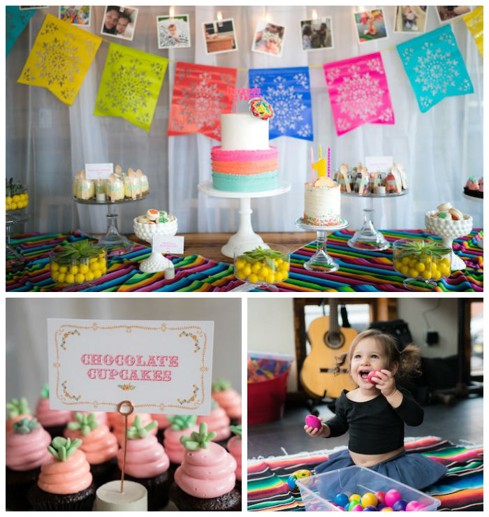 Colorful First Birthday Fiesta via Kara's Party Ideas KarasPartyIdeas.com (3)