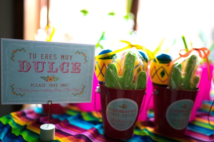 Favors from a Colorful First Birthday Fiesta via Kara's Party Ideas KarasPartyIdeas.com (23)