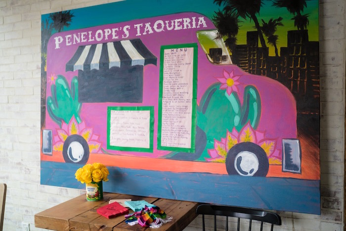 Taco Truck Mural from a Colorful First Birthday Fiesta via Kara's Party Ideas KarasPartyIdeas.com (22)