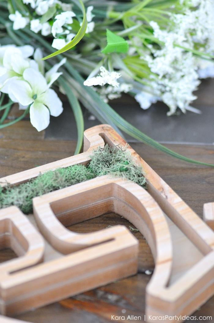 DIY moss wooden Easter letters for your home via Kara's Party Ideas | Kara Allen | KarasPartyIdeas.com #michaelsmakers 1