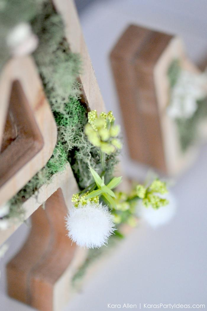 DIY moss wooden Easter letters for your home via Kara's Party Ideas | Kara Allen | KarasPartyIdeas.com #michaelsmakers 7