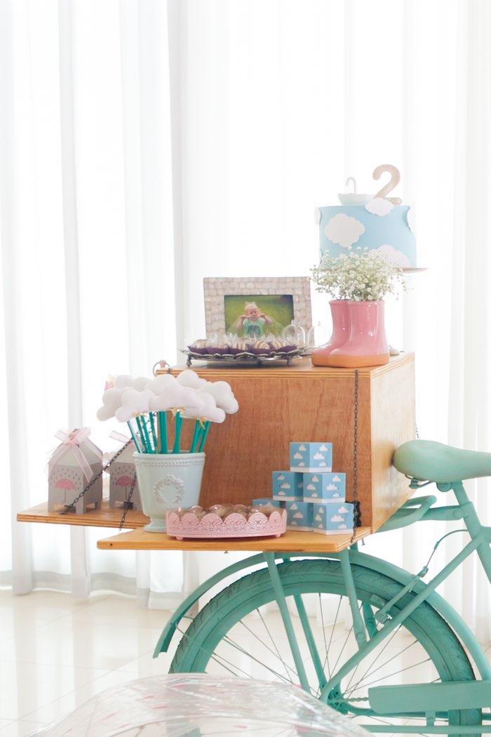 Party Table from a Dancing in the Rain Birthday Party via Kara's Party Ideas KarasPartyIdeas.com (25)
