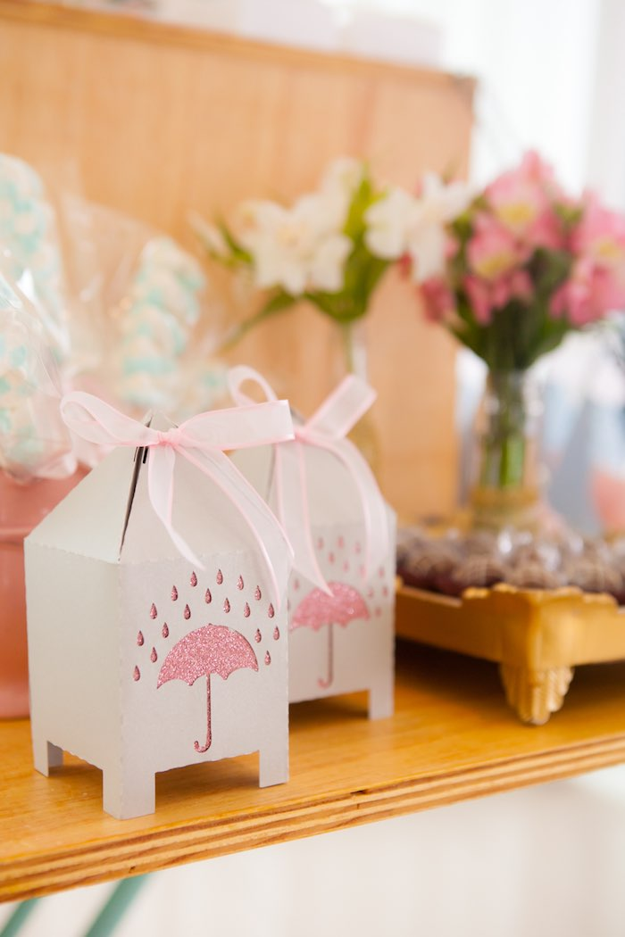 Favor Boxes from a Dancing in the Rain Birthday Party via Kara's Party Ideas KarasPartyIdeas.com (19)