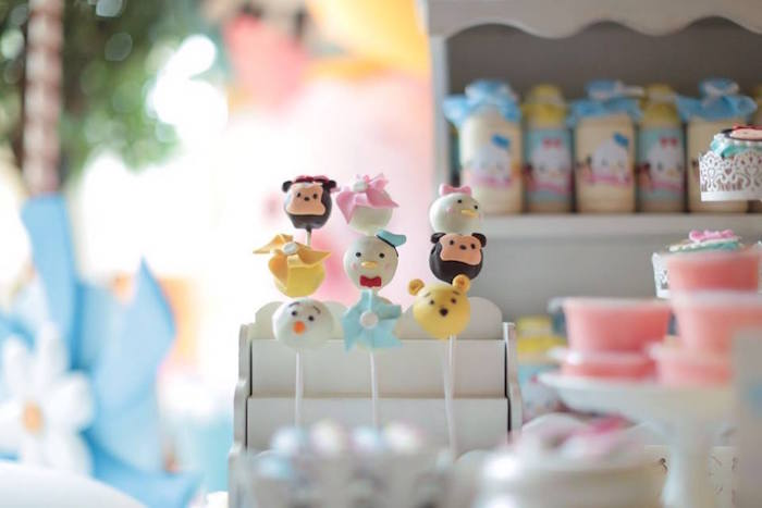 Cake Pops from a Disney's Tsum Tsum Inspired Birthday Party via Kara's Party Ideas | KarasPartyIdeas.com | The Place for All Things Party! (5)