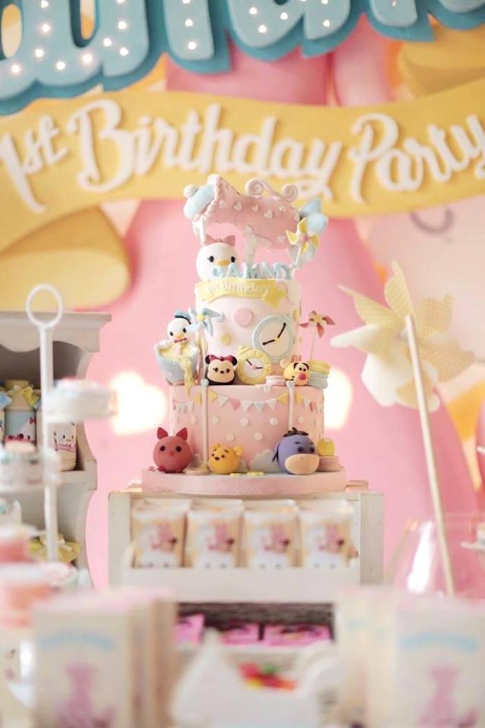 Karas Party Ideas Cake from a Disneys Tsum Tsum Inspired